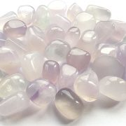 Highly polished Lilac Fluorite tumble stone size 2-3 cm.