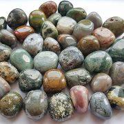Highly polished Ocean Jasper tumble stone size 2-3 cm.
