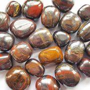 Highly polished Tiger Iron tumble stone size 2-3 cm.