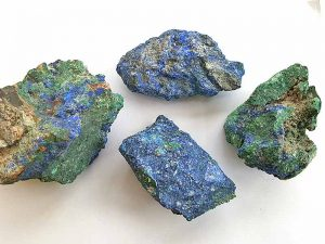 Azurite with Malachite 35-45 mm x 50-60 mm approx. Being a natural product these stones may have natural blemishes and vary in colour and banding. www.naturalhealingshop.co.uk based in Nuneaton for crystals, spiritual healing, meditation, relaxation, spiritual development,workshops.