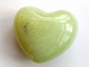 Highly polished New Jade Heart approx 45 mm. www.naturalhealingshop.co.uk based in Nuneaton for crystals, spiritual healing, meditation, relaxation, spiritual development,workshops.