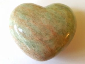Highly polished Amazonite Heart approx 45 mm. These hearts are perfect for a gift! There are purple velvet pouches or organza bags you can purchase to pop them into for the finishing touch. Being a natural product these stones may have natural blemishes and vary in colour and banding. www.naturalhealingshop.co.uk based in Nuneaton for crystals, spiritual healing, meditation, relaxation, spiritual development,workshops.