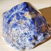 Polished Sodalite point approx size 45 mm Being a natural product this crystal may have natural blemishes. www.naturalhealingshop.co.uk based in Nuneaton for crystals, spiritual healing, meditation, relaxation, spiritual development,workshops.