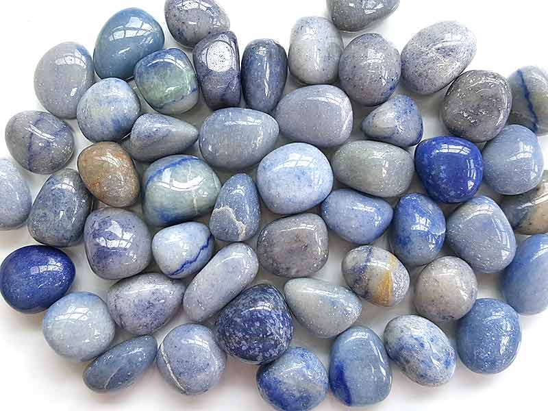 Highly polished Blue Quartz tumble stone size 2-3 cm. www.naturalhealingshop.co.uk based in Nuneaton for crystals, spiritual healing, meditation, relaxation, spiritual development,workshops.