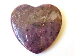 Highly polished Charoite Heart approx 45 mm. These hearts are perfect for a gift! There are purple velvet pouches or organza bags you can purchase to pop them into for the finishing touch. Being a natural product these stones may have natural blemishes and vary in colour and banding. www.naturalhealingshop.co.uk based in Nuneaton for crystals, spiritual healing, meditation, relaxation, spiritual development,workshops.