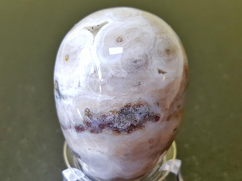 Highly polished Ocean Jasper crystal egg approximate height 45 mm. Beautiful to collect or hold and meditate with. Being a natural product these stones may have natural blemishes and vary in colour and banding. www.naturalhealingshop.co.uk based in Nuneaton for crystals, spiritual healing, meditation, relaxation, spiritual development,workshops.