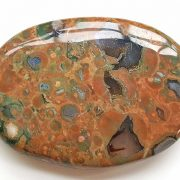 Highly polished Rhyolite palm stone 70 x 40 mm. The palm stones are made from the best grade rough materials to produce a well finished, highly polished product. Used by crystal healers and general therapists for massage and similar treatments. Also perfect for collectors. Being a natural product these stones may have natural blemishes and vary in colour and banding. www.naturalhealingshop.co.uk based in Nuneaton for crystals, spiritual healing, meditation, relaxation, spiritual development,workshops.