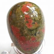 Highly polished Unakite egg approximate height 45 mm. Beautiful to collect or hold and meditate with. Being a natural product these stones may have natural blemishes and vary in colour and banding. www.naturalhealingshop.co.uk based in Nuneaton for crystals, spiritual healing, meditation, relaxation, spiritual development,workshops.