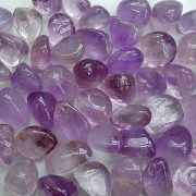 Highly polished Amethyst tumble stone size 2-3 cm. Being a natural product these stones may have natural blemishes and vary in colour, banding and shape. See photograph. www.naturalhealingshop.co.uk based in Nuneaton for crystals, spiritual healing, meditation, relaxation, spiritual development,workshops.