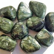 Highly polished Seraphinite size 20-30 mm. Being a natural product this crystal may have natural blemishes and vary in colour. www.naturalhealingshop.co.uk based in Nuneaton for crystals, spiritual healing, meditation, relaxation, spiritual development,workshops.