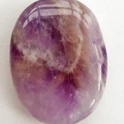 Highly polished Amethyst Chevron thumb stone.