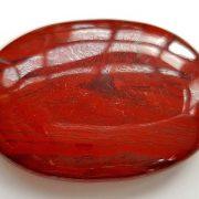 Highly polished snakeskin jasper palm stone 70 x 40 mm.