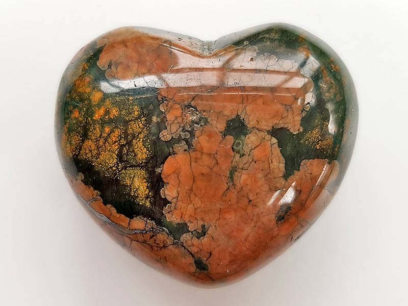 Highly polished Rhyolite Heart approx 45 mm.