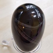 Highly polished Black Banded Agate egg approx height 45 mm. www.naturalhealingshop.co.uk based in Nuneaton for crystals, spiritual healing, meditation, relaxation, spiritual development,workshops.