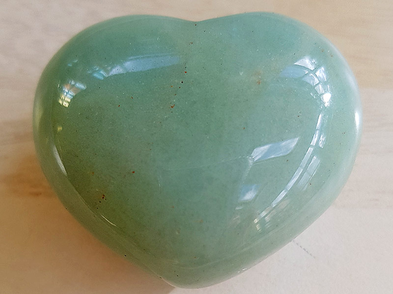 Highly polished Aventurine Green Heart approx 45 mm. www.naturalhealingshop.co.uk based in Nuneaton for crystals, spiritual healing, meditation, relaxation, spiritual development,workshops.