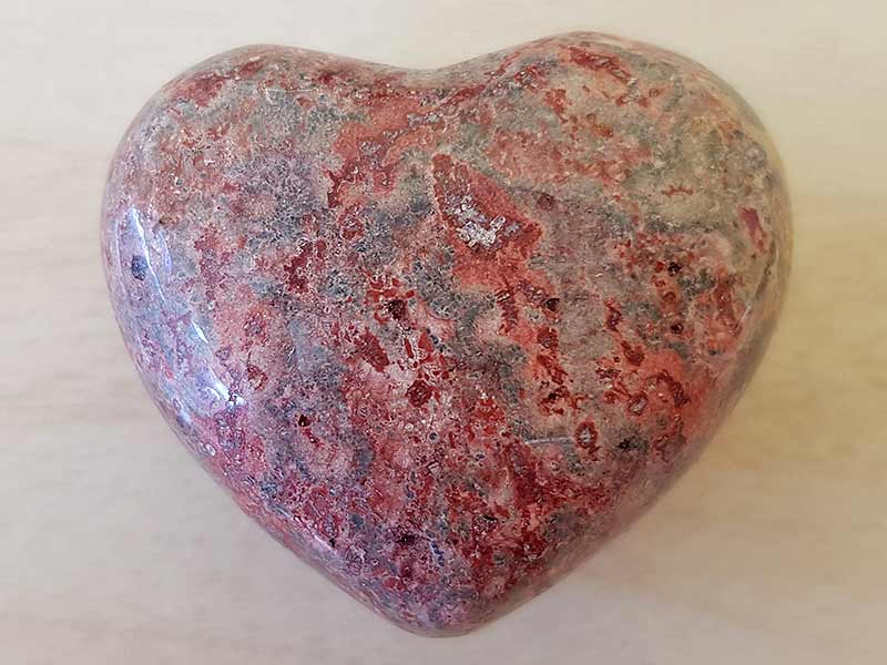 Highly polished Leopard Skin Jasper Heart approx 45 mm. These hearts are perfect for a gift! There are purple velvet pouches or organza bags you can purchase to pop them into for the finishing touch. Being a natural product these stones may have natural blemishes and vary in colour and banding. www.naturalhealingshop.co.uk based in Nuneaton for crystals, spiritual healing, meditation, relaxation, spiritual development,workshops.
