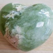 Highly polished New Jade Heart approx 45 mm. These hearts are perfect for a gift! There are purple velvet pouches or organza bags you can purchase to pop them into for the finishing touch. Being a natural product these stones may have natural blemishes and vary in colour and banding. www.naturalhealingshop.co.uk based in Nuneaton for crystals, spiritual healing, meditation, relaxation, spiritual development,workshops.