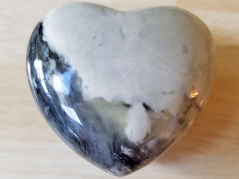 Highly polished Picasso Jasper Heart approx 45 mm. These hearts are perfect for a gift! There are purple velvet pouches or organza bags you can purchase to pop them into for the finishing touch. Being a natural product these stones may have natural blemishes and vary in colour and banding. www.naturalhealingshop.co.uk based in Nuneaton for crystals, spiritual healing, meditation, relaxation, spiritual development,workshops.