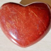 Highly polished Poppy Jasper Heart approx 45 mm. These hearts are perfect for a gift! There are purple velvet pouches or organza bags you can purchase to pop them into for the finishing touch. Being a natural product these stones may have natural blemishes and vary in colour and banding. www.naturalhealingshop.co.uk based in Nuneaton for crystals, spiritual healing, meditation, relaxation, spiritual development,workshops.