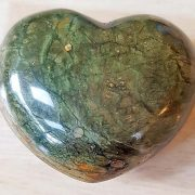 Highly polished Rhyolite Heart approx 45 mm. These hearts are perfect for a gift! There are purple velvet pouches or organza bags you can purchase to pop them into for the finishing touch. Being a natural product these stones may have natural blemishes and vary in colour and banding. www.naturalhealingshop.co.uk based in Nuneaton for crystals, spiritual healing, meditation, relaxation, spiritual development,workshops.