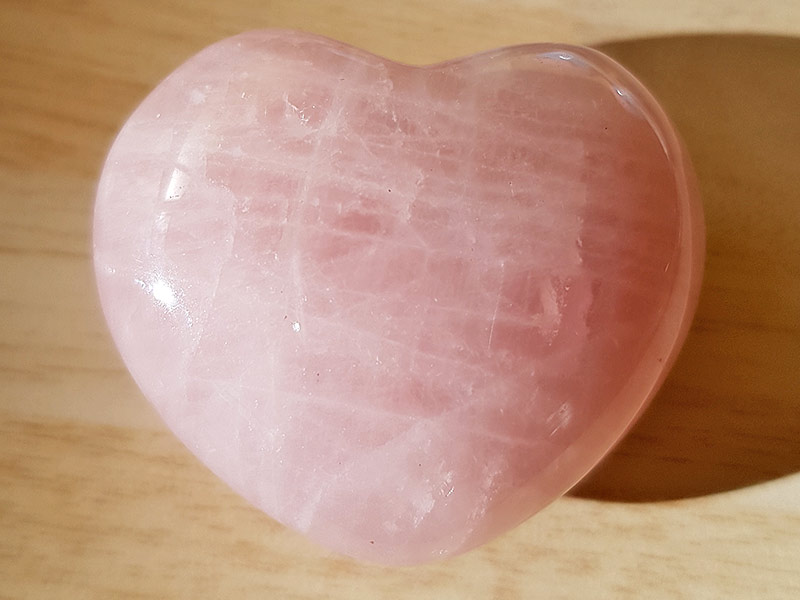 Highly polished Rose Quartz Heart approx 45 mm. These hearts are perfect for a gift! There are purple velvet pouches or organza bags you can purchase to pop them into for the finishing touch. Being a natural product these stones may have natural blemishes and vary in colour and banding. www.naturalhealingshop.co.uk based in Nuneaton for crystals, spiritual healing, meditation, relaxation, spiritual development,workshops.