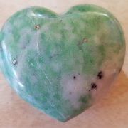 Highly polished Tree Jasper Heart approx 45 mm. These hearts are perfect for a gift! There are purple velvet pouches or organza bags you can purchase to pop them into for the finishing touch. Being a natural product these stones may have natural blemishes and vary in colour and banding. www.naturalhealingshop.co.uk based in Nuneaton for crystals, spiritual healing, meditation, relaxation, spiritual development,workshops.
