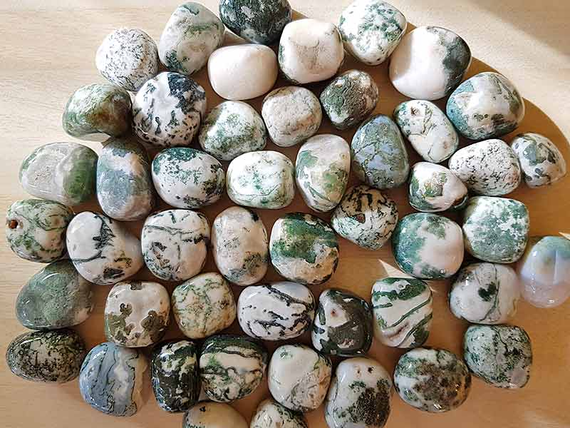 Highly Polished Tree Jasper stone size 20-30 mm. Being a natural poduct these stones may have natural blemishes and vary in colour and banding. www.naturalhealingshop.co.uk based in Nuneaton for crystals, spiritual healing, meditation, relaxation, spiritual development,workshops.