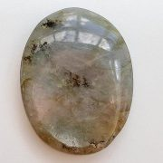 Highly polished Labradorite thumb stone 40 x 30 mm. The thumb stones have been designed to have a pleasing feel with the highest quality finish. They are shaped to fit beautifully between the thumb and fingers. Being a natural product these stones may have natural blemishes and vary in colour and banding. www.naturalhealingshop.co.uk based in Nuneaton for crystals, spiritual healing, meditation, relaxation, spiritual development,workshops.