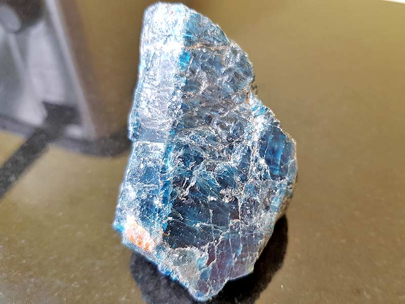 Blue Apatite approx 45 x 60 mm Being a natural product this crystal may have natural blemishes and vary in colour. www.naturalhealingshop.co.uk based in Nuneaton for crystals, spiritual healing, meditation, relaxation, spiritual development,workshops.