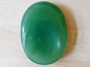 Highly polished Green Aventurine thumb stone 40 x 30 mm. The thumb stones have been designed to have a pleasing feel with the highest quality finish. They are shaped to fit beautifully between the thumb and fingers. Being a natural product these stones may have natural blemishes and vary in colour and banding. www.naturalhealingshop.co.uk based in Nuneaton for crystals, spiritual healing, meditation, relaxation, spiritual development,workshops.