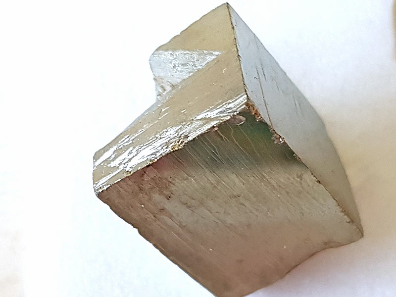 A shiny cube of Pyrite 20 mm x 15 mm Being a natural product this crystal may have natural blemishes and vary in colour. www.naturalhealingshop.co.uk based in Nuneaton for crystals, spiritual healing, meditation, relaxation, spiritual development,workshops.