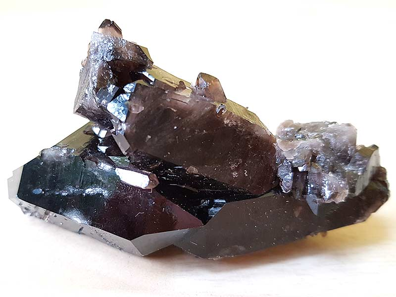 Smoky Quartz Cluster 85l x 40w x 45h mm. Being a natural product this crystal may have natural blemishes and vary in colour. www.naturalhealingshop.co.uk based in Nuneaton for crystals, spiritual healing, meditation, relaxation, spiritual development,workshops.