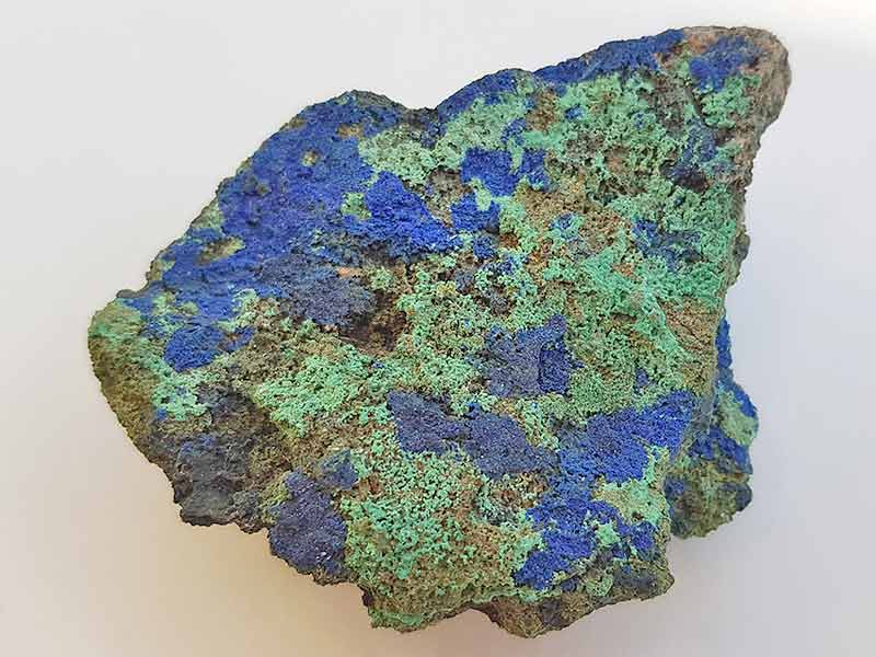 Azurite and Malachite approx size 60 x 50 mm Being a natural product this crystal may have natural blemishes. www.naturalhealingshop.co.uk based in Nuneaton for crystals, spiritual healing, meditation, relaxation, spiritual development,workshops.