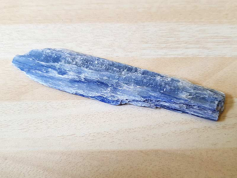 Kyanite piece approx size 90 mm Being a natural product this crystal may have natural blemishes. www.naturalhealingshop.co.uk based in Nuneaton for crystals, spiritual healing, meditation, relaxation, spiritual development,workshops.