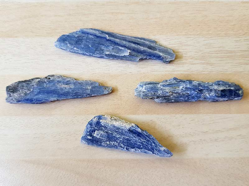 Kyanite pieces approx sizes between 40 mm to 60 mm Being a natural product this crystal may have natural blemishes. www.naturalhealingshop.co.uk based in Nuneaton for crystals, spiritual healing, meditation, relaxation, spiritual development,workshops.