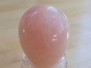 Highly polished Rose Quartz crystal eggs approximate height 45 mm. Beautiful to collect or hold and meditate with. Being a natural product these stones may have natural blemishes and vary in colour and banding. www.naturalhealingshop.co.uk based in Nuneaton for crystals, spiritual healing, meditation, relaxation, spiritual development,workshops.