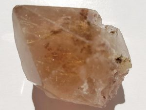 Rough rutilated Smoky Quartz point approximate length 45 mm. Being a natural product this crystal may have natural blemishes and vary in colour and banding. www.naturalhealingshop.co.uk based in Nuneaton for crystals, spiritual healing, meditation, relaxation, spiritual development,workshops.