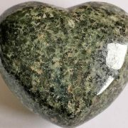 Highly polished Preseli Bluestone Heart approx 45 mm. These hearts are perfect for a gift! There are purple velvet pouches or organza bags you can purchase to pop them into for the finishing touch. Being a natural product these stones may have natural blemishes and vary in colour and banding. www.naturalhealingshop.co.uk based in Nuneaton for crystals, spiritual healing, meditation, relaxation, spiritual development,workshops.