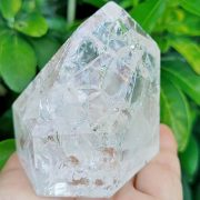 Highly polished Quartz Fire and Ice approx size 58 x 68 x 65 mm Being a natural product this crystal may have natural blemishes and vary in colour and banding. www.naturalhealingshop.co.uk based in Nuneaton for crystals, spiritual healing, meditation, relaxation, spiritual development,workshops.