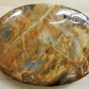 Highly polished picasso jasper palm stone 70 x 40 mm. The palm stones are made from the best grade rough materials to produce a well finished, highly polished product. Used by crystal healers and general therapists for massage and similar treatments. Also perfect for collectors. Being a natural product these stones may have natural blemishes and vary in colour and banding. www.naturalhealingshop.co.uk based in Nuneaton for crystals, spiritual healing, meditation, relaxation, spiritual development,workshops.